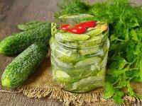 Как заготовить салат из огурцов