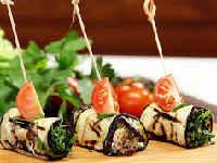 Самые вкусные баклажаны по-грузински с грецкими орехами, помидорами, чесноком, жареные