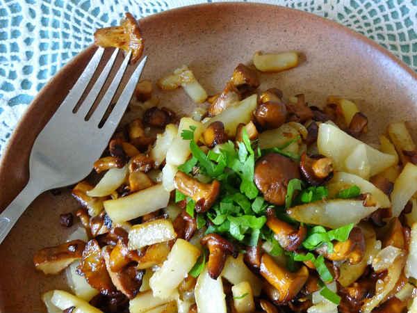 лисички рецепт с картошкой