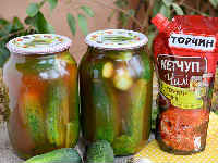 Огурцы в томате на зиму - обалденные рецепты с чесноком, без стерилизации, салат