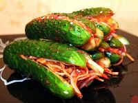 Кимчи по-корейски из огурцов - рецепты с кунжутом, мясом