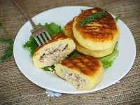 Картофельные зразы с мясным фаршем, жареные на сковороде - рецепт с фото