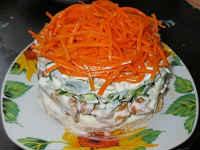 салат с курицей корейской морковью