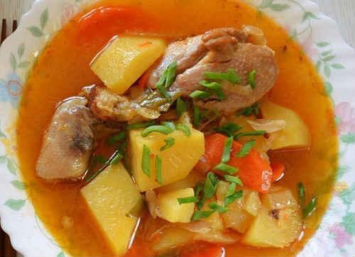 картошка в мультиварке с мясом