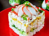 Крабовый салат с огурцом - 10 вкусных классических рецептов