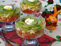 рецепты салатов с киви