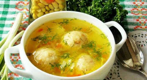 суп рецепт с клецками