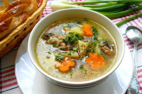 суп сайрой