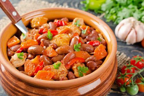 фасоль с мясом рецепт