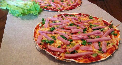 пицца в лаваше