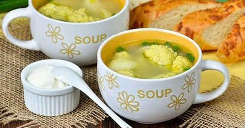 суп с манными галушками