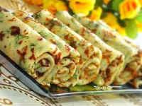 Сырные блины с зеленью - простой и быстрый рецепт блинов с начинкой