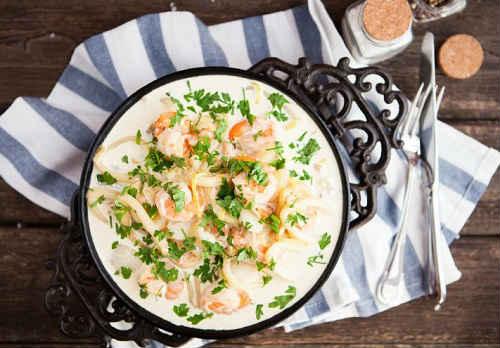 паста рецепт в честночно-сливочном соусе
