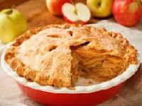 Постный насыпной пирог с яблоками - рецепт с манкой и корицей