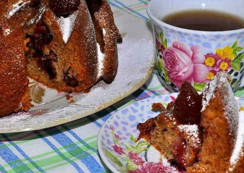 постный пирог с вареньем