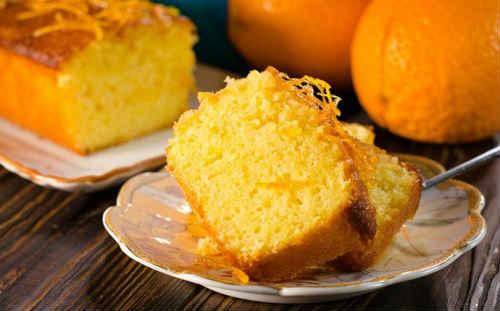 кекс творожный с апельсином