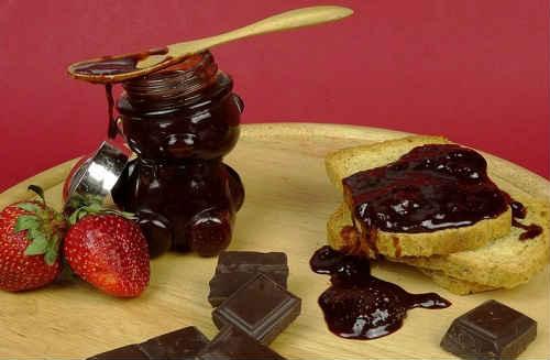 клубника с шоколадом