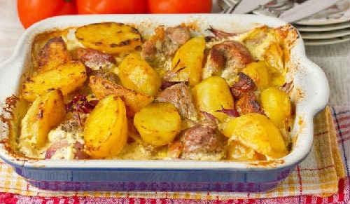 мясо с картошкой