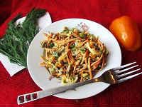 рецепт салата с куриными сердечками