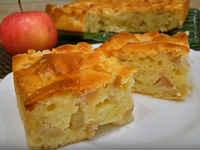 яблочный пирог на кефире