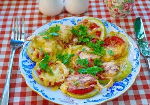 кабачки рецепты с помидорами