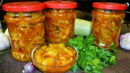 кабачки в томате рецепт на зиму