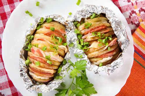картошка гармошка рецепт с беконом