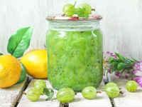Варенье из крыжовника с лимоном - рецепты с апельсином, без варки