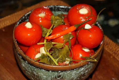 маринованные помидоры быстрый рецепт