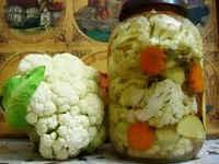 рецепты заготовки из цветной капусты