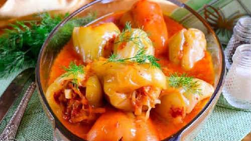фаршированные перцы рецепты