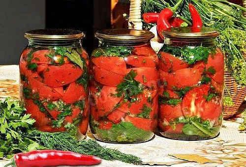 помидоры резаные на зиму