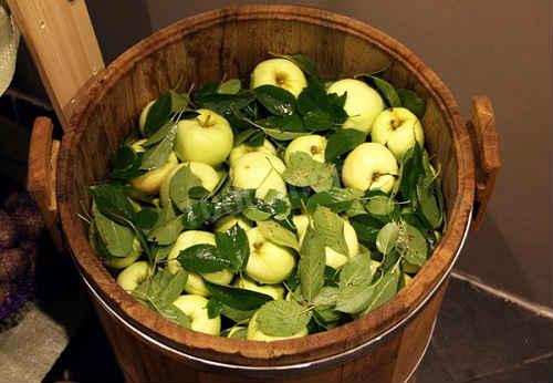 яблоки моченые в бочках