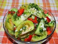 зеленые помидоры маринованные на зиму