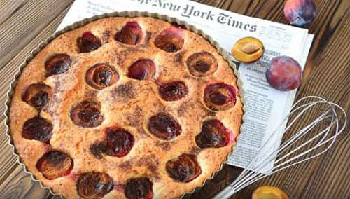 сливовый пирог из газеты Нью Йорк Таймс
