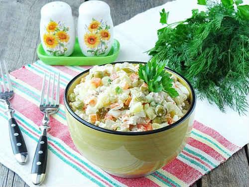 как приготовить столичный салат