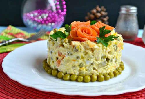 классический столичный салат