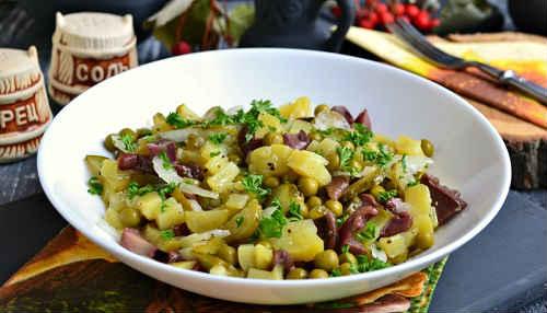 деревенский салат рецепт с грибами