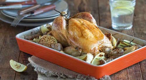 курица запеченная целиком в духовке