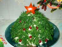 как приготовить новогодний салат елочка