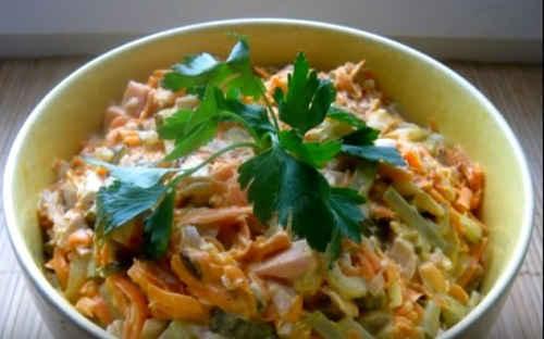 классический рецепт салата Обжорка
