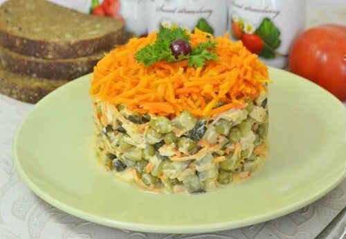 салат обжорка слоями