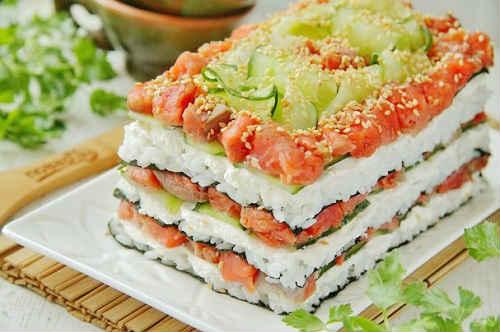 салат суши Филадельфия
