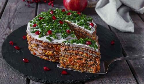 вкусный закусочный торт