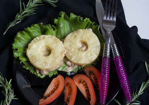 блюда с ананасами