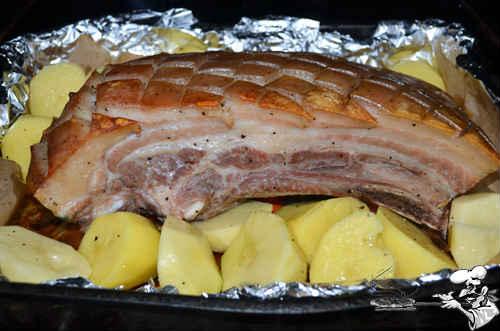 грудинка с картошкой в духовке