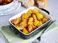 как приготовить индейку с картошкой в духовке