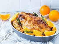 Курица, запеченная с апельсинами в духовке - лучшие рецепты