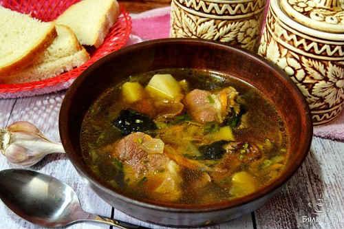 суп с сухими грибами рецепт
