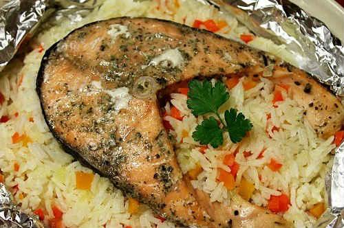 горбуша с рисом в духовке рецепты